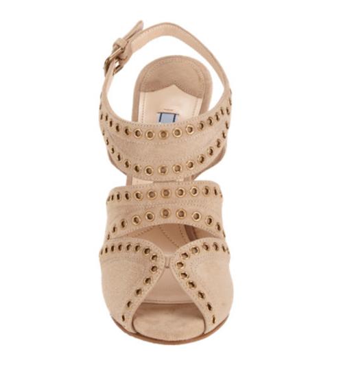 Prada Studded Slingback Platform Sandals 2