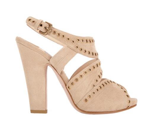 Prada Studded Slingback Platform Sandals 3