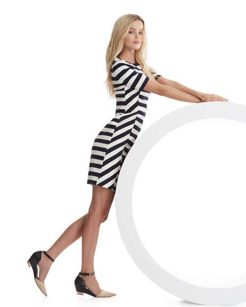 Tory Burch Augusta Fitted Striped Dress 2