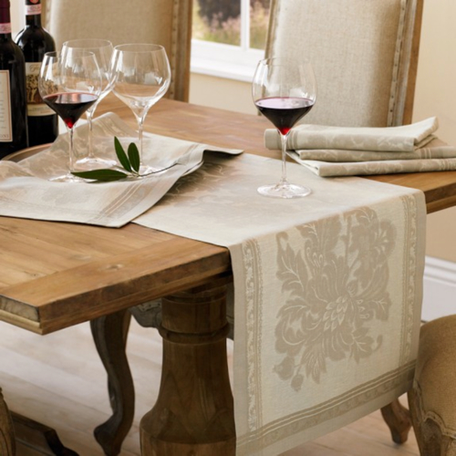 Williams-Sonoma Antique Floral Jacquard Table Runner