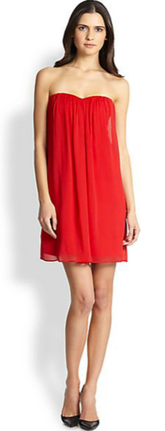 Alice + Olivia Jazz Center Draped Strapless Dress
