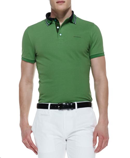 Burberry London Short-Sleeve Polo Shirt