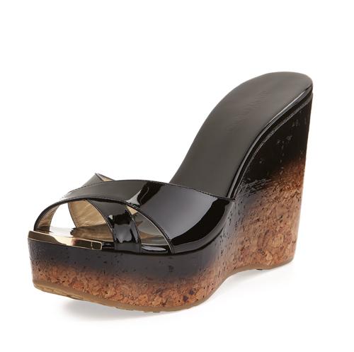 Jimmy Choo Perfume Crisscross Degrade Wedge Sandal