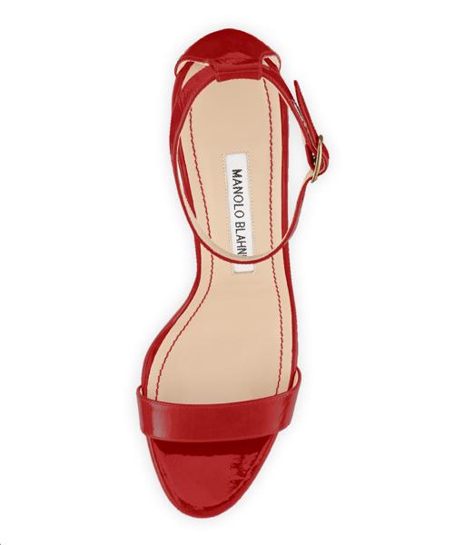 Manolo Blahnik Chaos Patent Ankle-Strap Sandal 2