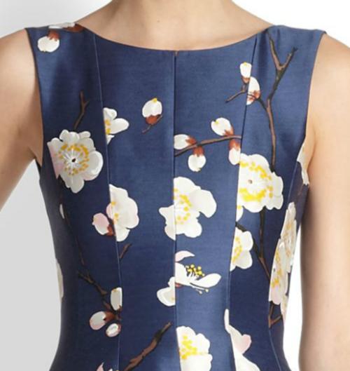 Oscar de la Renta Cherry Blossom-Print Radzmir Dress 2