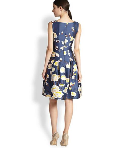 Oscar de la Renta Cherry Blossom-Print Radzmir Dress 3