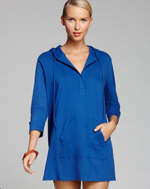 Ralph Lauren Blue Label Cotton Jersey Ryan Oversized Hooded Cover Up Tunic 3