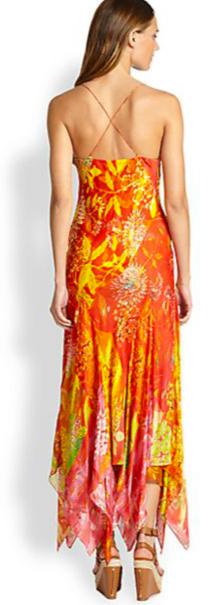 Ralph Lauren Blue Label Martina Printed Handkerchief Dress 2