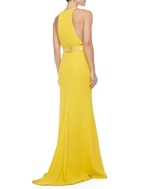 Stella McCartney Sleeveless Golden-Belt Gown 2