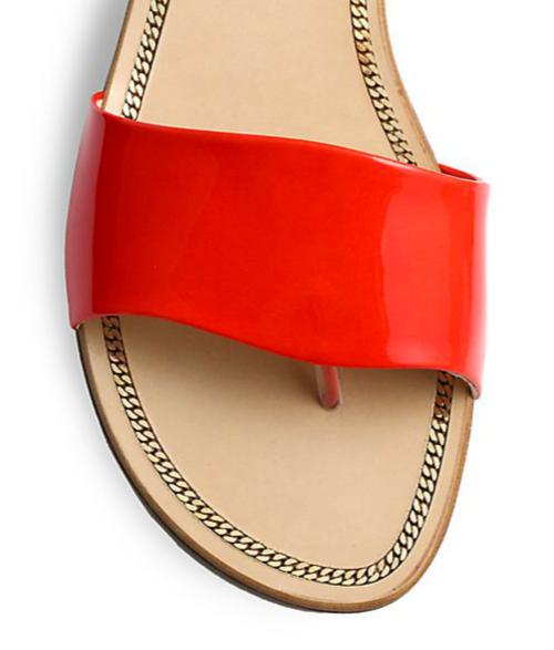 Stuart Weitzman Slipnslide Patent Leather Sandals 2