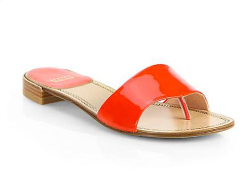 Stuart Weitzman Slipnslide Patent Leather Sandals