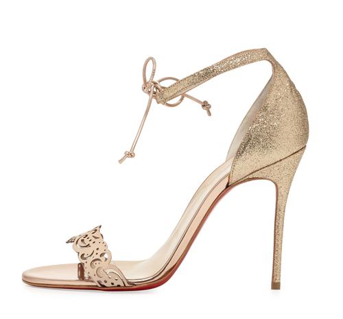 Christian Louboutin Valnina Glitter Red Sole Sandal 2