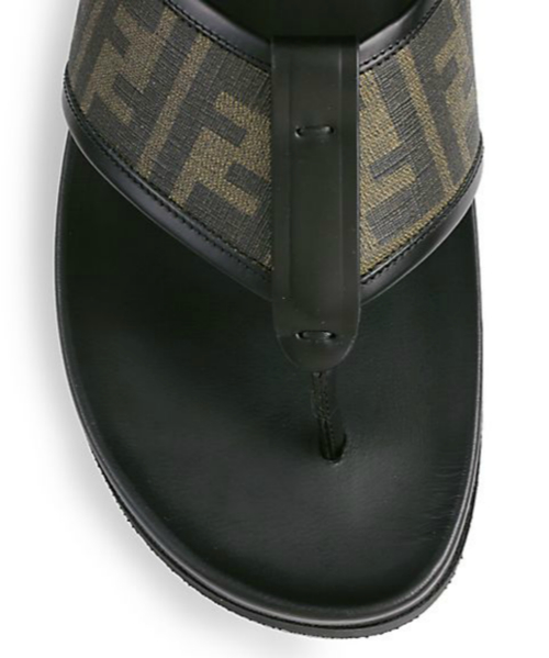 Fendi Zucca Logo Thong Sandals 2