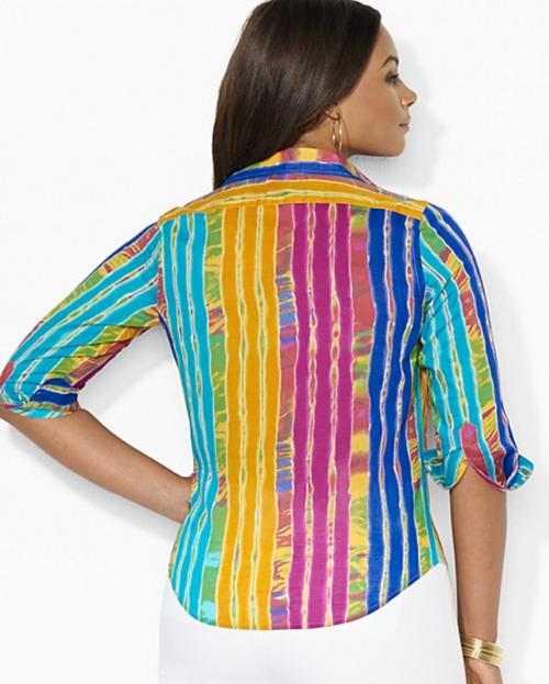Lauren Ralph Lauren Plus Printed Button Down Shirt 2