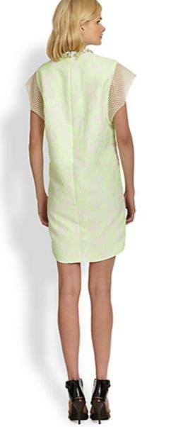 3.1 Phillip Lim Embellished-Neck Mesh-Paneled Jacquard Dress 2