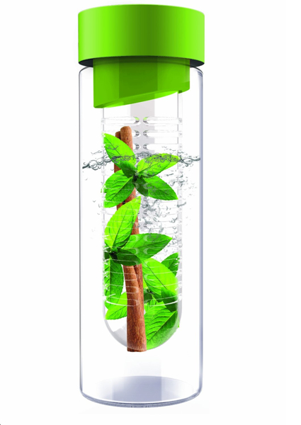 AdNArt Flavor It Glass Water Bottle with Fruit Infuser