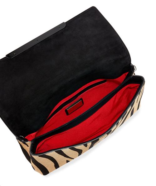 Christian Louboutin Rougissime Tiger-Print Calf Hair Clutch Bag 2