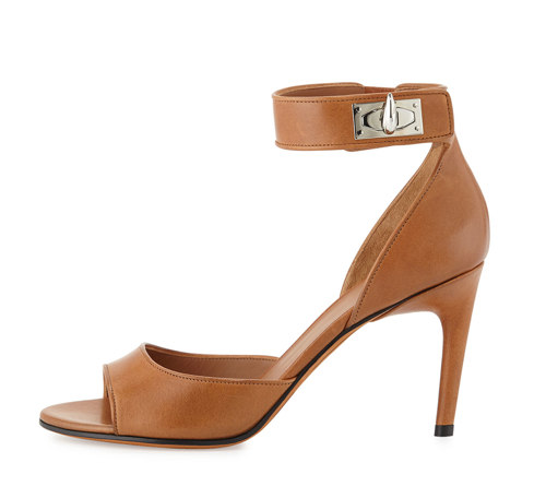 Givenchy Leather Shark-Lock Sandal 2