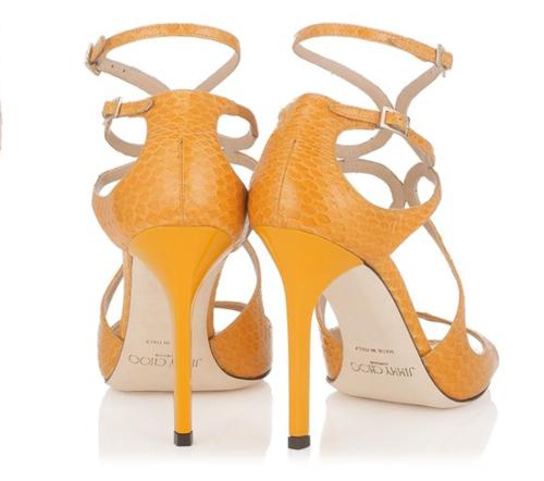 Jimmy Choo Lang Sun Elaphe Strappy Sandals 3