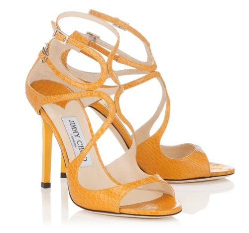 Jimmy Choo Lang Sun Elaphe Strappy Sandals