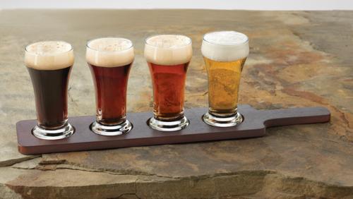 Libbey Craft Brews Beer Flight 6-Ounce Clear Pilsner Glass Set 2