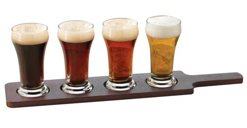 Libbey Craft Brews Beer Flight 6-Ounce Clear Pilsner Glass Set