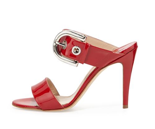 Manolo Blahnik Bila Double-Band Patent Sandal 2