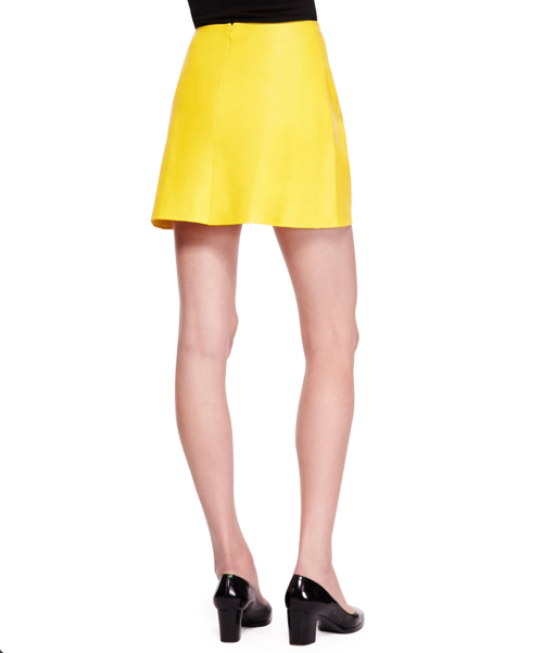 Ralph Lauren Collection Maxine Short Leather Skirt 2