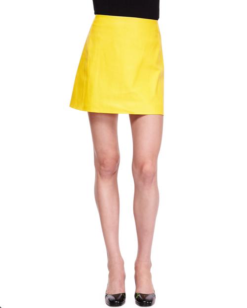 Ralph Lauren Collection Maxine Short Leather Skirt