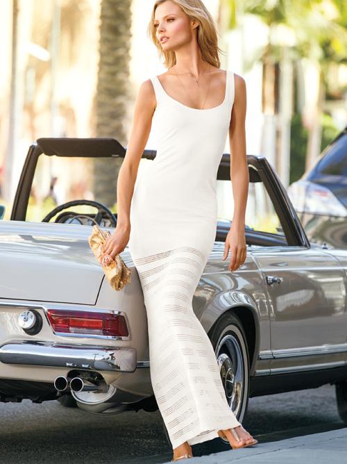 Victoria's Secret Sheer Bottom Maxi Dress 2