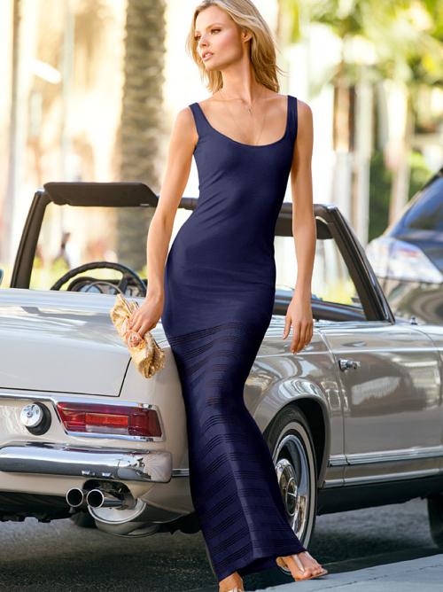Victoria's Secret Sheer Bottom Maxi Dress 4