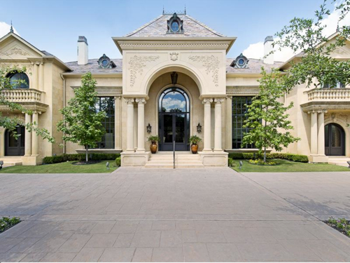 Estate of the day 3 4 million french country mansion in for Mansions in dallas tx