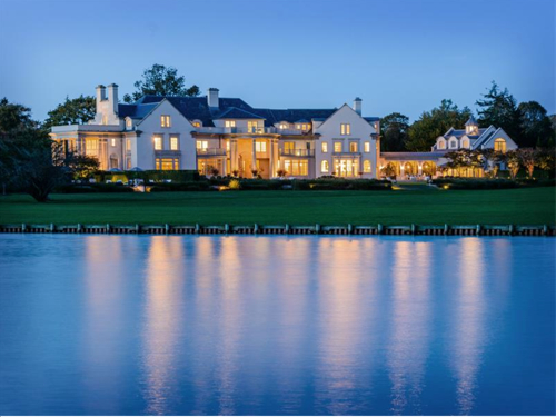 $49.5 Million Villa Maria Waterfront Mansion in Water Mill New York 13