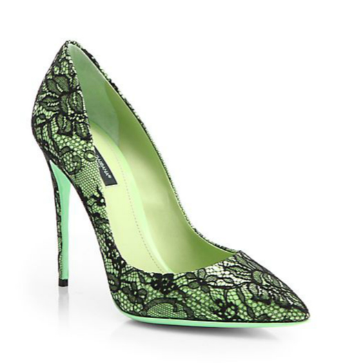 Dolce & Gabbana Kate Lace Pumps 3