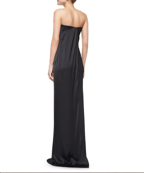 Donna Karan Printed Strapless Column Gown 2