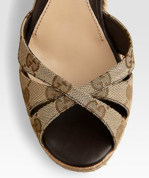 Gucci Penelope GG Canvas Espadrille Wedges 2