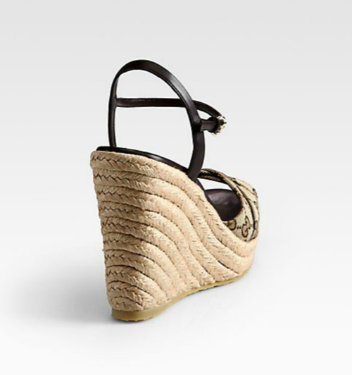 Gucci Penelope GG Canvas Espadrille Wedges 3