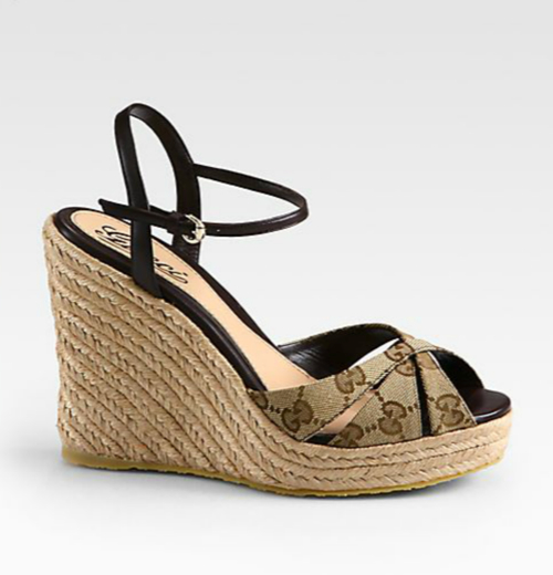 Gucci Penelope GG Canvas Espadrille Wedges