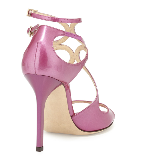 Jimmy Choo Lang Shimmer Patent Strappy Sandal 3