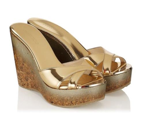 Jimmy Choo Perfume Cork Wedge Sandal 3