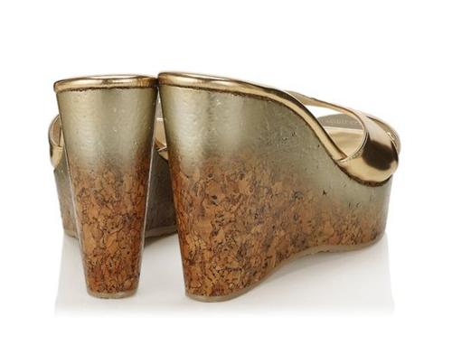 Jimmy Choo Perfume Cork Wedge Sandal 5