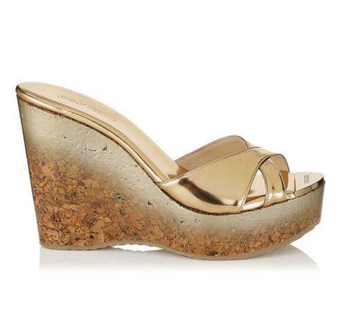 Jimmy Choo Perfume Cork Wedge Sandal