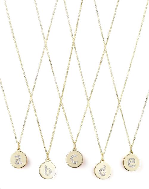 KC Designs Diamond-Initial Gold Necklaces