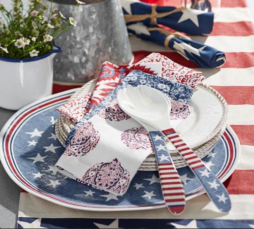 Pottery Barn American Flag Table Runner 2
