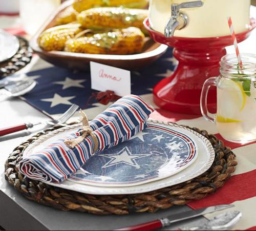 Pottery Barn American Flag Table Runner 3