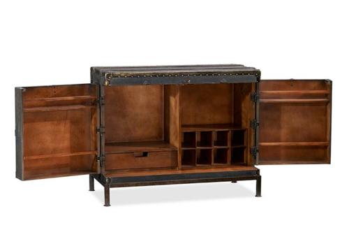Pottery Barn Ludlow Trunk Bar Cabinet 3
