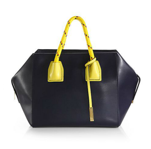 Stella McCartney Rope-Handle Faux-Leather Boston Bag