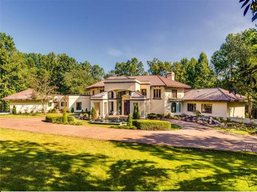 $2.8 Million Mediterranean Mansion in Charlotte North Carolina