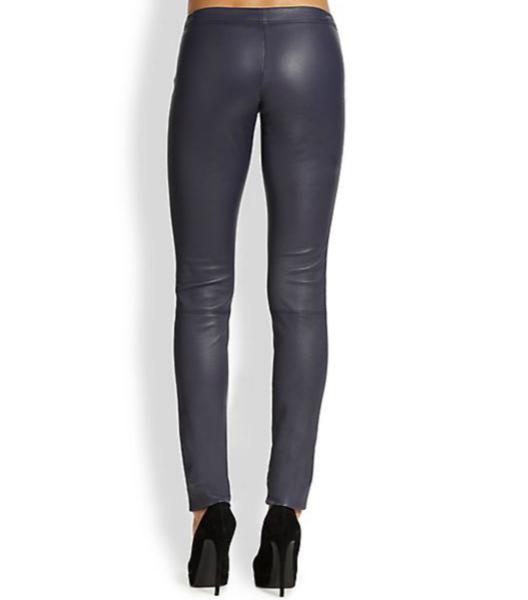 Alice + Olivia Front-Zip Leather Legging 2