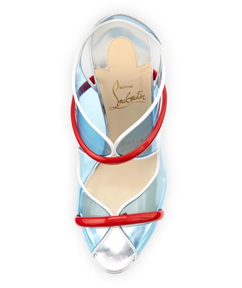 Christian Louboutin Aqua Ronda PVC Red Sole Sandal 2